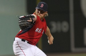 (Fort Myers, FL, 03/30/15) Robbie Ross Jr. pitches in the sixth inning of the Red Sox verses Twins game at JetBlue Park. Monday, March 30, 2015. Staff photo by John Wilcox.