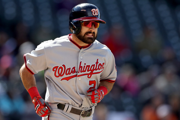 Nationals OF Adam Eaton scratched due to bone bruise in ankle