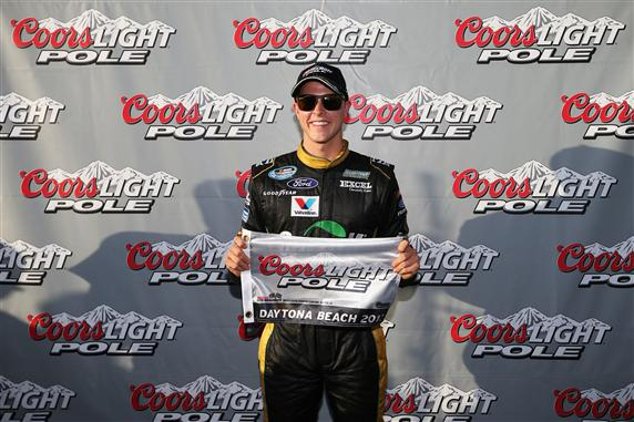 Daytona Friday NNS Qualifying Trevor Bayne Pole Award