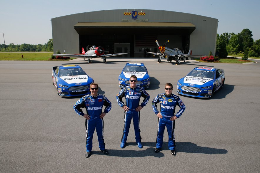 Roush Fenway Racing drivers Carl Edwards, Ricky Stenhouse Jr and Greg Biffle to run Fastenal Paint schemes