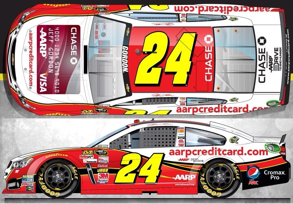 Gordons Credit Card >> Photo Jeff Gordon Dover Aarp Chase Credit Card Paint Scheme