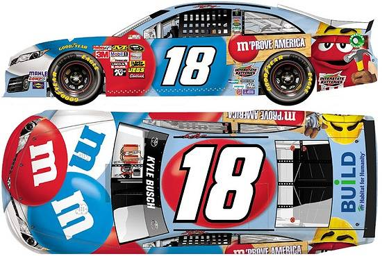 Kyle busch running habitat for humanity scheme for coca cola 600