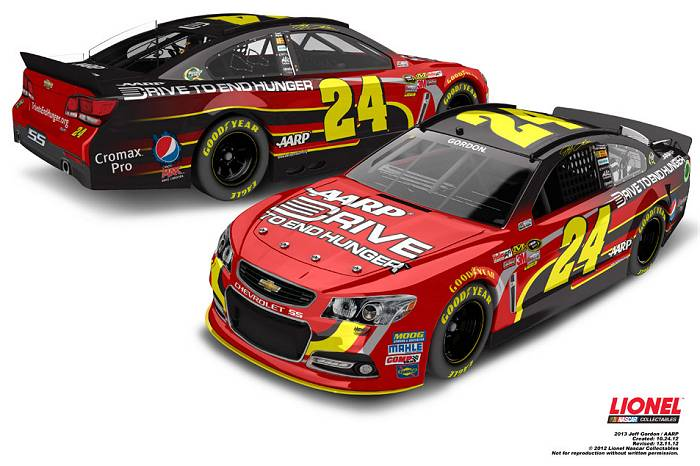 5. Jeff Gordon #24 AARP/Drive to End Hunger Chevy