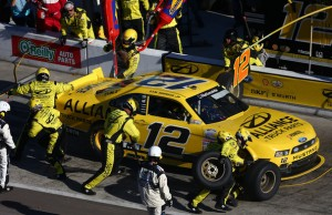 Photo of Alliance Truck Parts on the No 12 of Sam Hornish Jr. in the Nationwide Series in 2013.