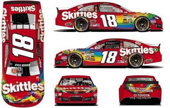 Skittles To Return To Nascar Primary Sponsor For Kyle Busch In