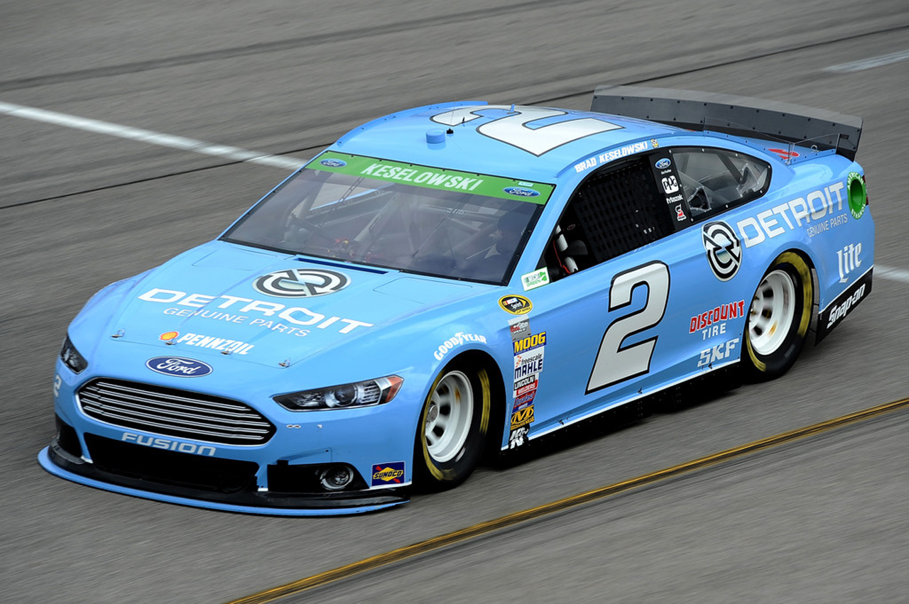 Brad Keselowski driving Detroit Genuine Parts car at ...