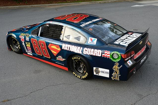Check out dale earnhardt jr. 's patriotic paint scheme for daytona.