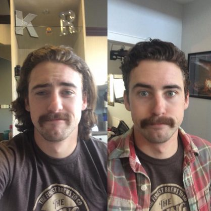 ryan blaney  goodbye  long hair  hair cut    tireball nascar news