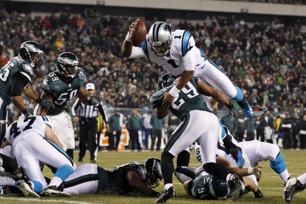 nfl analysts eagles panthers line